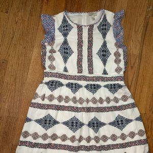 White printed shift dress